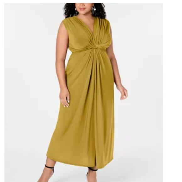 NWOT Plus size yellow maxi dress